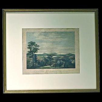 Antique Lake & Valley Engraving