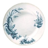 Antique Villeroy & Boch Pond Scene Plate