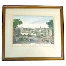 Antique View of Versailles Engraving