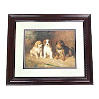 Three Puppies Engraving