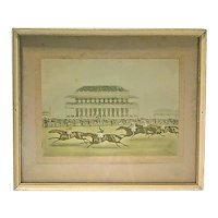 Antique Horse Racing Engraving-1