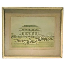 Antique Horse Racing Engraving-1