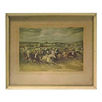 Antique Polo Match Engraving