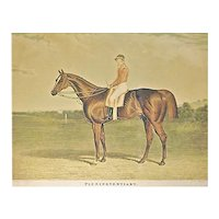 Antique Derby Winner Horse Engraving