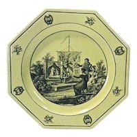 Vintage Mottahedeh Empire Garden Scene Plate