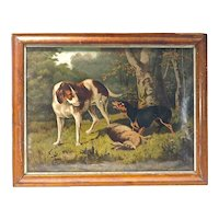 Dogs On The Hunt Engraving