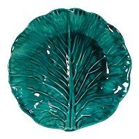 Vintage Green Majolica Leaf Plate