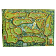 Vintage Golf Course Map Gameboard
