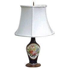 Antique Porcelain Floral Lamp