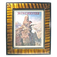 """Vintage """"Winchester"""" Rifle Advertising Engraving"""