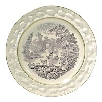 Antique Lake Scene Plate