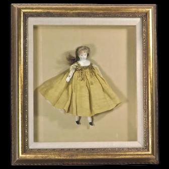 Shadow Box Framed Antique Doll