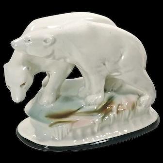 Vintage Ceramic Polar Bear Figurine