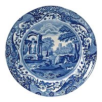 Antique Spode Countryside Scene Plate-1