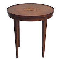 Antique English Nautilus Inlaid Side Table
