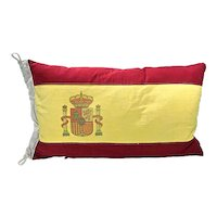 Vintage Flag Of Spain Pillow