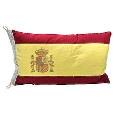 Vintage Flag Of Spain Pillow