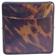 Antique English Tortoise Shell Card Box-1
