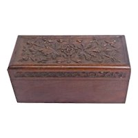 Antique German Acanthus Leaf Design Jewelry Box