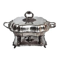Antique Silverplated Chafing Dish