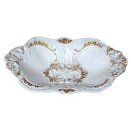 German Meissen Parcel Gilt Porcelain Serving Bowl