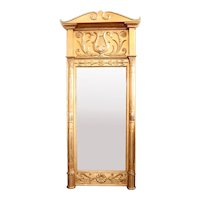Swedish Karl Johan Gilt Pier Mirror and Marble Console en Suite