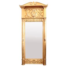 Tall Swedish Karl Johan Gilt Pier Mirror
