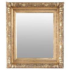 American Gilt Gesso Framed Wall Mirror