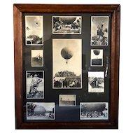 Assembled Set of 11 American Photographs, Hot Air Balloons