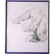 Hollis Randall Williford Drawing on Paper, Nude Study