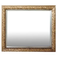 American Victorian Gilt Gesso Mirror