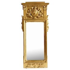 Danish Early Empire Gilt Pine Mirror