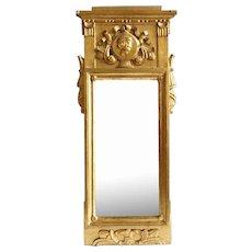 Danish Early Empire Gilt Pine Mirror