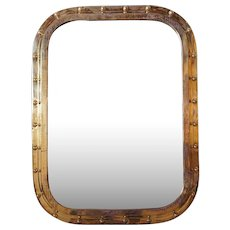 Vintage Brass Framed Ship's Window as a Wall Mirror