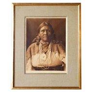 EDWARD S. CURTIS Photogravure, Jicarilla Matron, Plate 23
