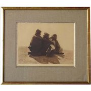 EDWARD S. CURTIS Photogravure, A Point of Interest - Navaho, Plate 36