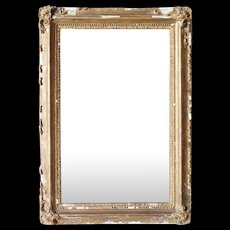 Small French Gilt Gesso Mirror