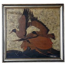 William Dacres ADAMS Oil Painting, Birds in Flight