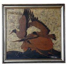 William Dacres ADAMS Oil Painting, Birds in Flight