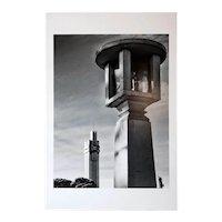 MAXIMILIANO BRINA Black and White Photograph, Art Deco Architecture, Salamone x 2