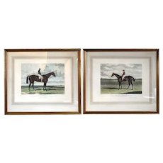 After H. HALL, J.F. HERRING English Color Lithographs, Bessy Bedlam & Cotherstone Race Horses