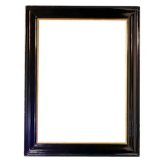 Dutch Baroque Style Black Lacquered and Gilt Painting or Mirror Frame