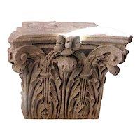 American Limestone Corinthian Architectural Pilaster Capital