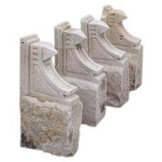 Set of 4 American Sandstone Architectural Brackets