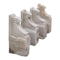 Set of Four American Sandstone Architectural Brackets