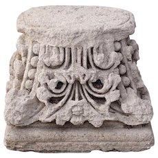 English Limestone Architectural Pillar Top / Column Capital