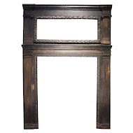 Large Rare Renaissance Period Walnut Fireplace Surround