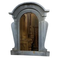 French Industrial Zinc Mansard Window as a Mirror