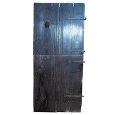 English Baroque Elm Two-Part Stable Single Door