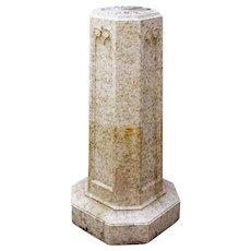 American Glazed Terracotta Garden Pedestal Garden Sundial